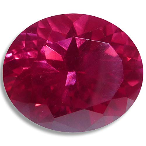 Lab Ruby Fine Red Oval Loose Unset Gem (8x6mm)