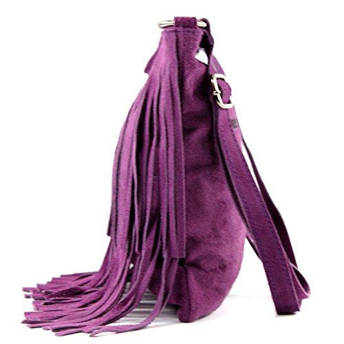Sac sac italien cabas à à cuir main femme bandoulière T02 en véritable sac Lavendel rwrYRnP