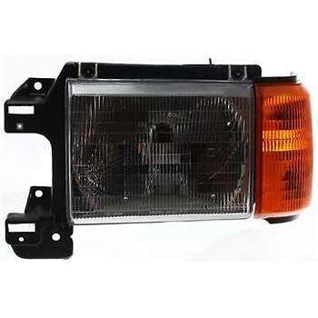 F53 Assembly Headlight Ford (Diften 114-B3051-X01 - 87-91 Ford Bronco F150 F250 F350 Pickup Truck Headlights Headlamps Pair Set)