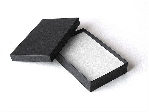 10 Pack Cotton Filled Matte Black Color Jewelry Gift and Retail Boxes 5.25 X 3.75 X 1 Inch Size by R J Displays