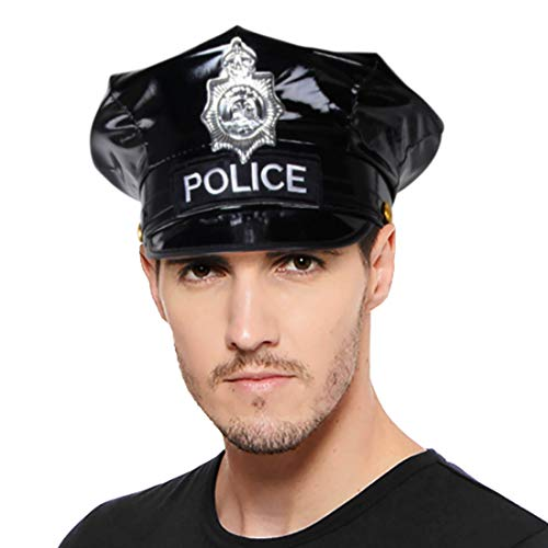 (Wraith of East Women's Police Officer Costume Halloween Adult Sexy Uniform Hat Badge (Only Hat Syle B, Adult)