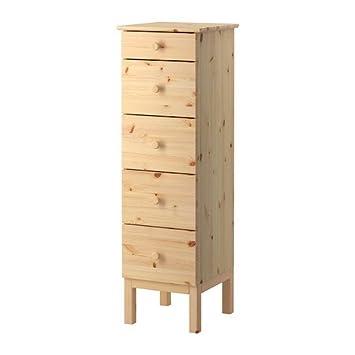 Ikea Tarva - Cómoda de 5 cajones, Pino - 56x39x28 cm / 45 l ...