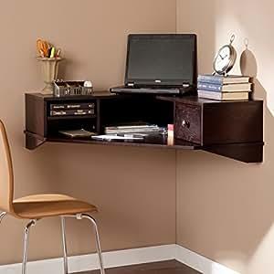 surprising corner office desk furniture | Amazon.com: Southern Enterprises Reese Wall Mount Corner ...