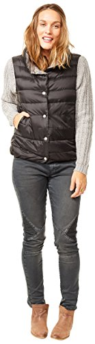 CARVE Designs Women's Silverton Reversible Vest, Black/Glacier, Medium