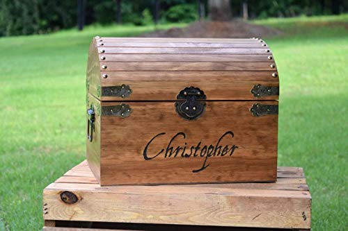 Chest Pine Treasure - Kids Toy Chest - Kids Treasure Chest - Personalized Gift for Kids - Children's Treasure Chest - Gift for Kids - Kids Christmas Gift