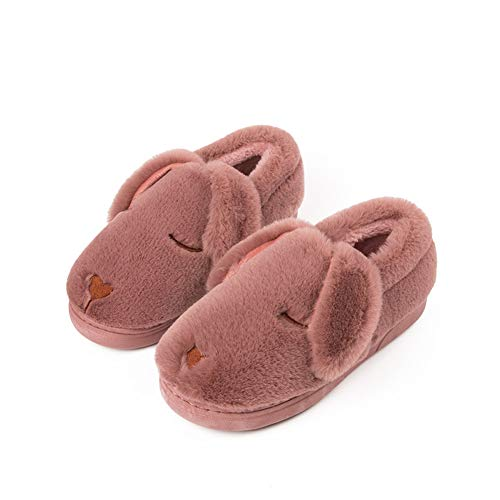 GONGYU pour Pink Chaussons Leather Femme ngxB8qTw