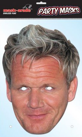 Gordon Ramsay Celebrity Card Face Mask (Celebrity Face Masks)