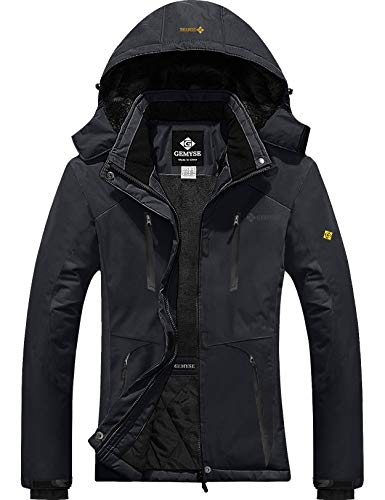 GEMYSE Women's Waterproof Ski Snow Jacket Insulated Winter Windproof Fleece Jacket with Hood