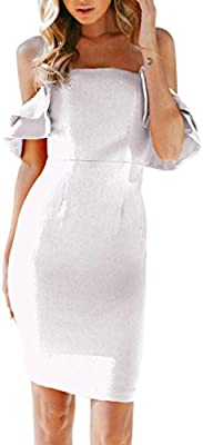 9e0cc988e4d Wawer Vestido de Verano para Mujer