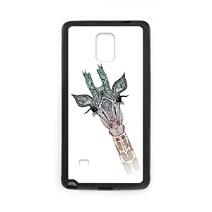 Generic Retro Deer Sea Wolf Giraffe Pattern Hard Snap-on Covers for SamSung Galaxy Note4