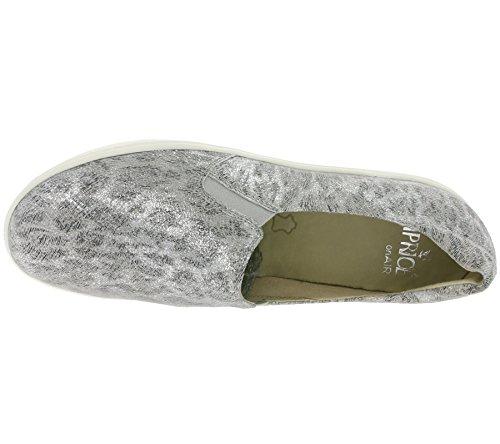 Caprice 9 Slipper Grey Leo Leder 24672 28 Damen 214 WUc4FU