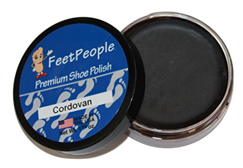 FeetPeople Premium Shoe Polish Wax, Cordovan, 1.625 Ounces (People Leather)