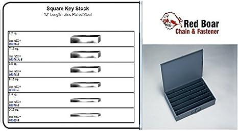 "1//16/"" Zinc Coat Mak-A-Key Steel Keystock 3//8/"" /& 4mm 12mm 10-Sizes Avail."