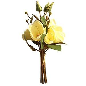 Botrong Artificial Fake Flowers Leaf Magnolia Floral Wedding Bouquet Party Home Decor (E) 78
