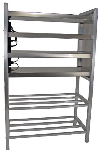 Lockwood FWS-2143-4-ST Aluminum Food Warming Shelf with Stand, 200 Degree F Operating Temperature, 21'' Length x 43-1/8'' Width x 66'' Height by Lockwood