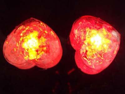 aquasafe red heart shaped led light up ice cube amazon co uk