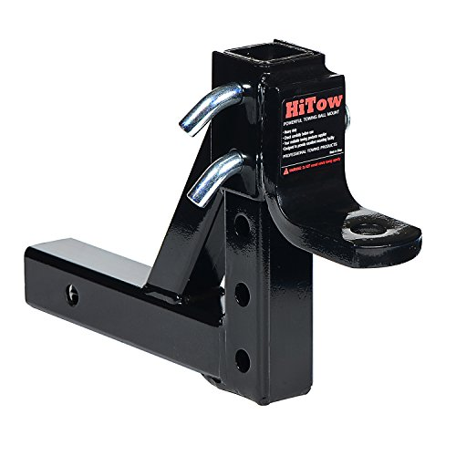 HiTow Class III/IV Adjustable Trailer Ball Mount, 8-Position (GTW 6,000 (Adjustable Ball Mount)