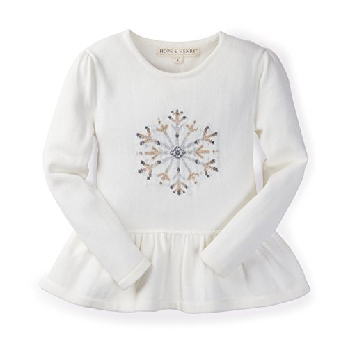 Ivory Holiday Snowflake Intarsia Sweater Made with Organic Cotton (Hope Kids Sweatshirt)