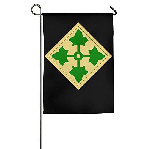 U.S. Army 4th Infantry Division House Flag Garden Flag Yard Banner Garden Stand Flag