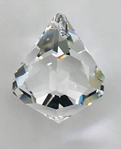 Swarovski crystal 30mm Clear Faceted Cone Ball Prism, Amazing Shine & Brilliance, Strass Logo engraved, Pendant Prism, Chandelier Accent, Party Decoration