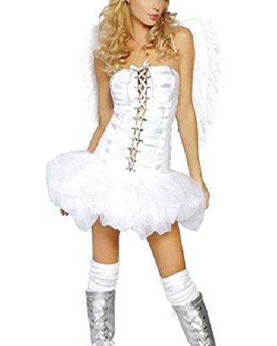 Donna Sexy Angelo Costume Halloween Cosplay Bianco