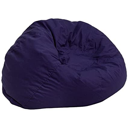 9ee77ba766a2 Image Unavailable. Image not available for. Color  Flash Furniture  Oversized Solid Navy Blue Bean Bag Chair