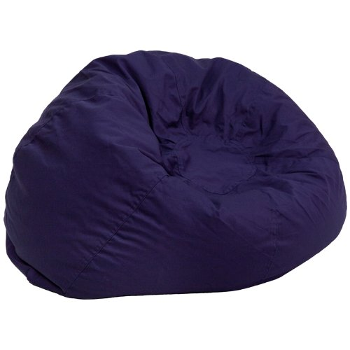 Flash Furniture Oversized Solid Navy Blue Bean Bag (Navy Bean Bag Chair)