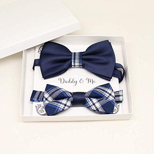 Navy Bow tie set for daddy and son,