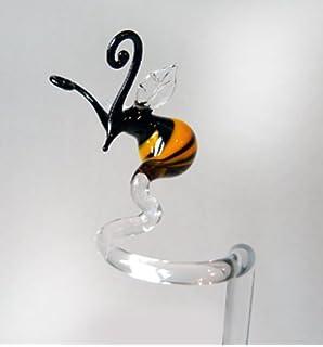 Einhorn Orchideenstab aus Klarglas Blumenstab Rankhilfe