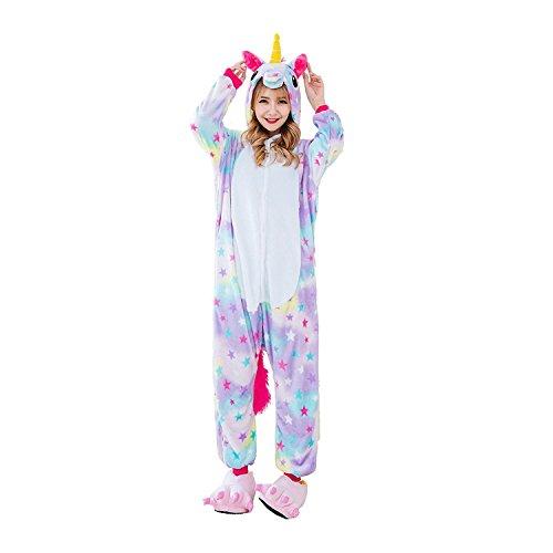 Unicornio Pijama multicolor diseño Y Unicornio pijama con las estrellas diseño,Unisex Traje de Disfraz Cosplay para Carnaval Halloween Navidad Ropa para ...