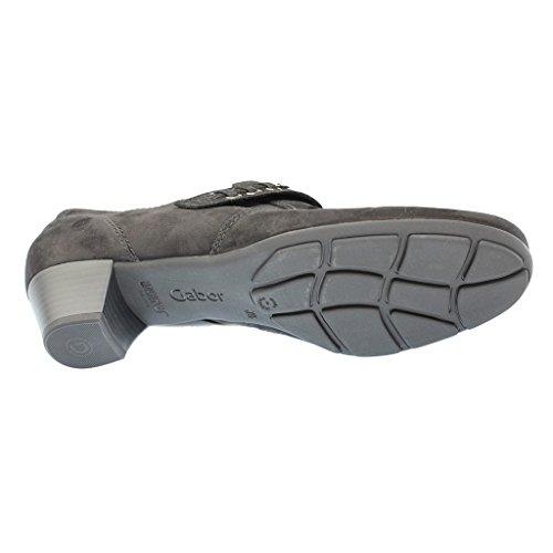 de 17 negro 25 Gabor schwarz 412 tacón Mujeres Zapatos EqAfaO