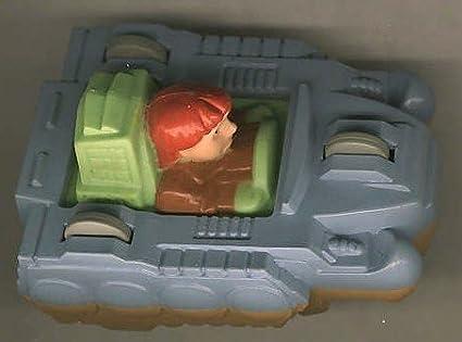 Vintage Burger King Kid/'s Meal Toy Captain Planet Flip Car 1990 TBS Reversible Blue Duke Nukem