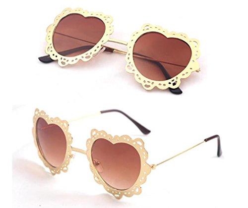 Personalizadas 4 sol sol de de Mujer de Color Forma Gafas de Gafas 11 corazón Moda Redondas Coreana Gafas X131 en wgXHxx