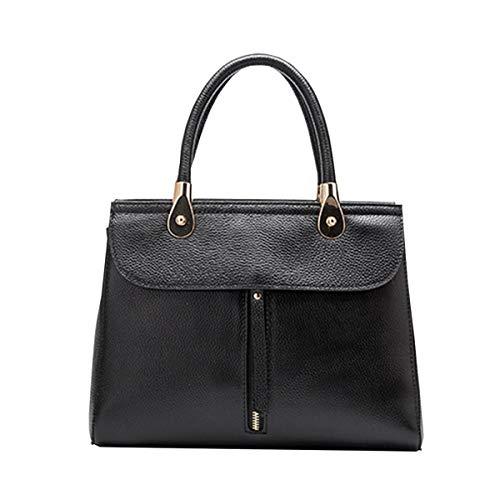 En Mode Et Noir HJLY Grand Sac Main Nouveaux Sacs Portable Besace Cuir Sac En Européenne à Cuir Américaine épaule Leather 2018 Dames ffaq84