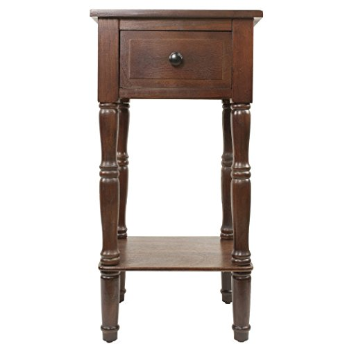 Traditional Walnut End Table - 3