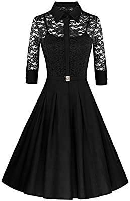 Angerella Women's 3/4 Sleeve Vintage Party Bridesmaid Dress