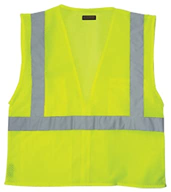 Lime 5X-Large ML Kishigo 1507 Ultra-Cool Polyester Brilliant Series Economy Vest