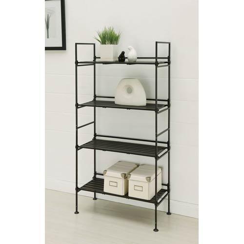 Organize It All Ebonize 4-Tier Shelf in (Frame Shelving Unit)