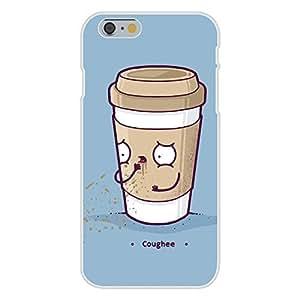 "DaojieTM Generic Iphone 6 4.7 Inch Custom Case White Plastic Snap on - ""Coughee"