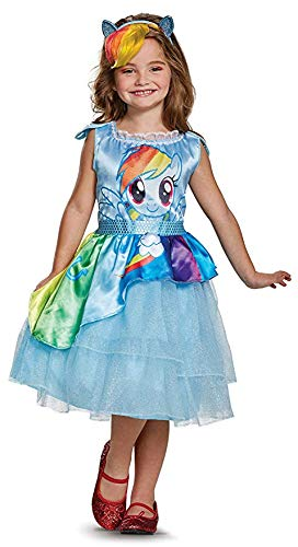 Disguise My Little Pony Movie Rainbow Dash Deluxe Movie Costume with Gloves -
