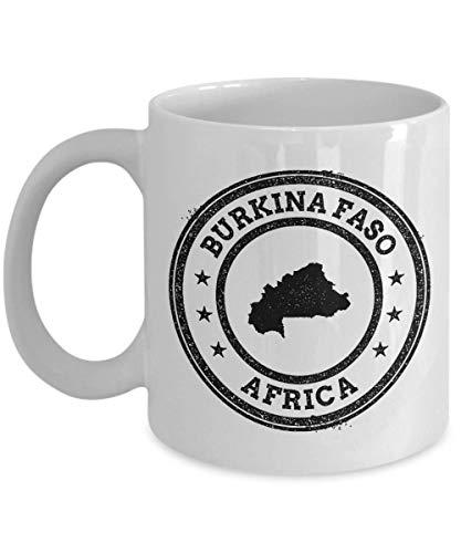 Burkina Faso stamp passport Africa novelty gift idea holiday for women men wife husband coworker friend birthday coffee mug 11 ()