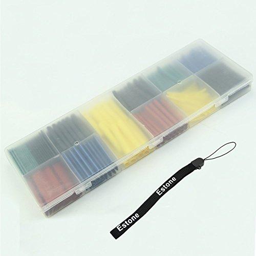 Estone® 280pcs Assortment Ratio 2:1 Heat Shrink Tubing Tube Sleeving Wrap Kit with Box