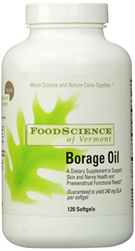 Food Science of Vermont Borage Oil 1000 Mg, 120 Count