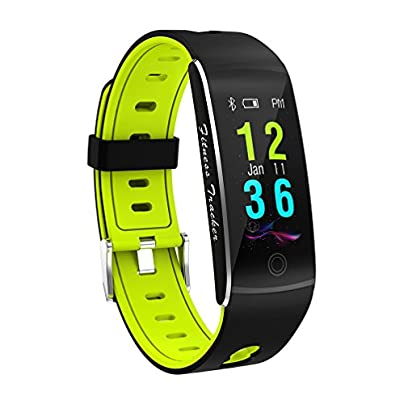 MTTLS Fitness Tracker Smart Bracelet F10 Color Display Heart Rate Monitor IP68 Waterproof Touch Screen Bluetooth Pedometer Wristband Sleep Monitor For Women Men Android And IOS Green Estimated Price -