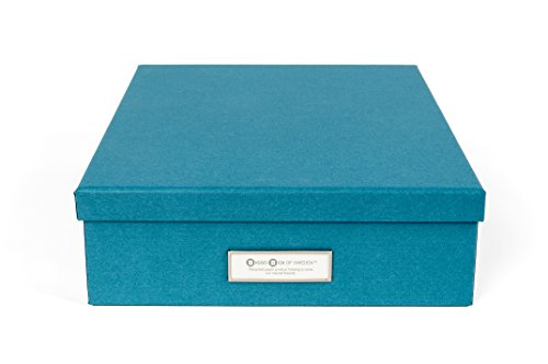 Bigso Oskar Document/Letter Storage Box, Turquoise