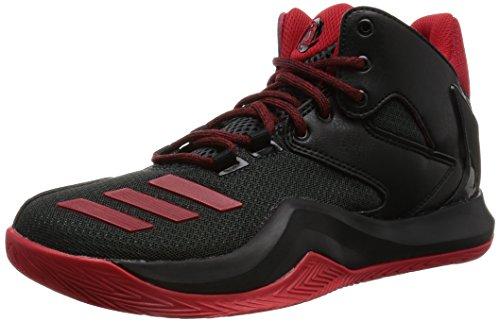 adidas Unisex-Kinder D Rose 773 V Basketballschuhe, Schwarz (Core Black/Scarlet/Dark Grey), 38 EU