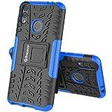 Bracevor Back Cover Case for Honor 8C | Shockproof Defender Rugged Armor Hybrid Kickstand Case - Blue