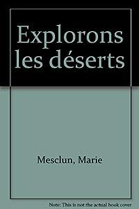 """Afficher """"Explorons les déserts"""""""