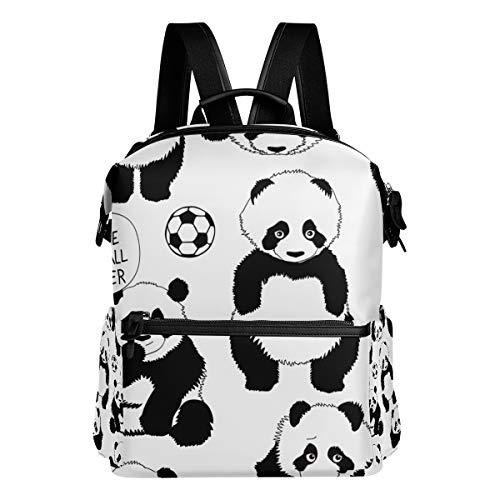 Dragon Sword I'm A Little Football Player Pandas School Backpack College Bags Daypack Bookbags for Teen Boys Girls