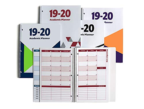 2019-2020 Academic Planner, A Tool for Time Management, Daily, Weekly & Monthly School Agenda for Keeping Students On Track & On Time, (July 2019-June 2020), Size 8.5x11, Red (Best Planners For College Students 2019)